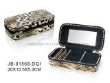 Caja de Joyería de Moda del Estilo del Leopardo de Tendencia