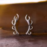 Antigüedad de los pendientes de los ciervos de la plata esterlina del peso ligero 925 Silvertone