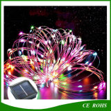 lumière solaire imperméable à l'eau extérieure décorative colorée de chaîne de caractères d'en cuivre de chaîne de caractères de lumière de bande de la lampe DEL de jardin d'arbre de Noël 150LED