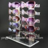 Présentoir acrylique neuf de magasin au détail en verre de lunettes de soleil