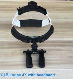 Magnifier medico delle lenti d'ingrandimento della fascia con l'indicatore luminoso del LED