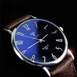 Reloj impermeable del reloj unisex del diseño compacto 299 con el vidrio azul