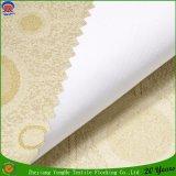 Polyester tissé de vente directe d'usine enduisant le tissu imperméable à l'eau de rideau en arrêt total de franc pour l'hôtel