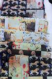 方法女性ののためのWear構成された印刷されたオーガンザファブリック