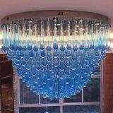 로비를 가진 파란 유리제 물 하락 프로젝트 천장 램프