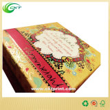 Cadre de empaquetage de papier du desserrage 2016 de petite d'or estampille neuve de clinquant avec le couvercle (CKT-CB-500)