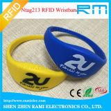 125kHz&13.56MHz 인쇄를 가진 지능적인 RFID NFC 실리콘 소맷동 또는 팔찌