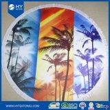 Полотенца пляжа цветастой конструкции круглые