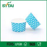 La ciotola di minestra di carta a gettare con il coperchio per toglie