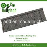 A pedra lasca folha revestida da telhadura do metal (o tipo clássico)
