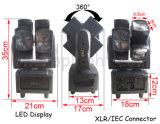 Da roda louca 4in1 8X10W do dobro da luz do feixe do ajuste cabeça movente do diodo emissor de luz