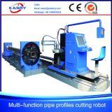 Máquina de estaca redonda da flama do plasma do CNC da câmara de ar do quadrado da tubulação para o cortador de aço Kr-Xf8 da fabricação