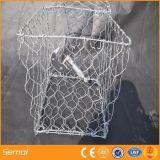 Горячее окунутое гальванизированное шестиугольное плетение провода коробки Gabion