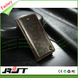 携帯電話の革箱フリップカバーiPhone 6つの革札入れの箱
