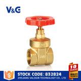 Drenaje de cobre amarillo de la válvula de puerta del color (VG-B11302)