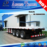 Du Tri-Essieu 20FT 40FT de conteneur remorque semi, remorque à plat de camion