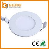 Mini panel plano Embedded LED 3W Delgado Die Casting aluminio para cubierta