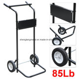 85 Pounds 15HP Outboard Boat Small Motor und Engine Stand Steel Carrier Cart Dolly