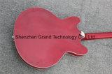 Guitare électrique Semi-Creuse du jazz 335 avec le corps rouge