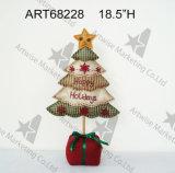 Decoración teñida té del hogar del árbol de navidad de la tela