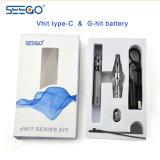 Kit del dispositivo d'avviamento della penna di Vape della batteria di Seego Vhit Typec+Ghit dei fornitori della Cina con il serbatoio di vetro