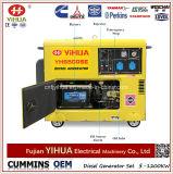 Portable elétrico de 5kw 5kVA 6kVA aberto/gerador Diesel refrigerado a ar silencioso