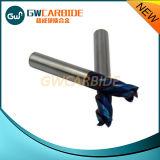 4 moinho de extremidade contínuo do carboneto do revestimento Nano azul das flautas HRC60