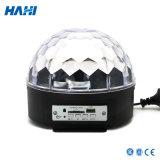 Luz mágica do estágio do diodo emissor de luz da esfera com luz dos antolhos da decoração do estágio