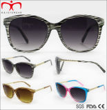 Óculos de sol das mulheres do metal da forma com templo do metal (WSP707948)