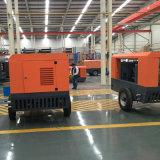 Compresor de aire movible diesel del tornillo para la plataforma de perforación del receptor de papel de agua