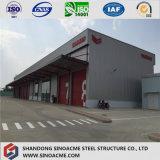 L'entrepôt préfabriqué de structure métallique de modèle de construction/a jeté