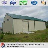 El almacén prefabricado de la estructura de acero del diseño de la construcción/vertió