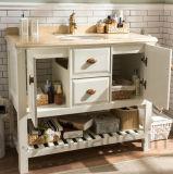 Vanità moderna di vendita calda della stanza da bagno del dispersore di legno solido di stile singola