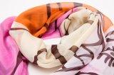 100%の縞の絹のデジタルプリントスカーフ
