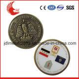 普及した要素のユーロの硬貨を切り分ける柔らかいエナメルの技術