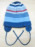 Chapéu feito malha colorido do Beanie da forma das crianças