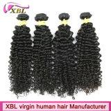 Cabelo humano Curly cambojano do Virgin duradouro