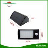 Extérieur imperméabiliser 28 la lumière de mur de détecteur de mouvement de l'énergie solaire PIR de DEL