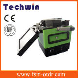 Techwin Lichtbogen-Faser-Spleißstelle-Maschinen-Schmelzverfahrens-Filmklebepresse