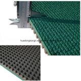 競技場のPerfabricatedのゴム製連続したトラックIaafの合成物質はトラック表面をゴム加工する