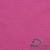 Agua y de la ropa de deportes tela punteada diamante tejida chaqueta al aire libre Viento-Resistente 100% del poliester del filamento del telar jacquar abajo (53126)
