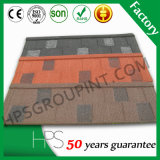 Tuile de toiture enduite de pierre colorée d'OIN de Soncap