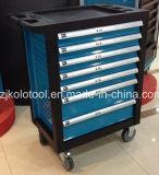 стальной шкаф ролика 220PCS с типом сини вагонетки инструментов 7drawer