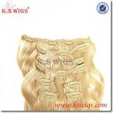 Clip de calidad superior de la Virgen de Remy del europeo del 100% en pelo