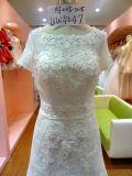 Femmes enes ivoire de robe de mariage de douilles courtes confortables Wedding la robe Uw4047 de Cerenony