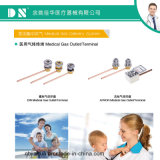 최신 판매 다른 표준 의학 가스 단말기 또는 출구 O2/Air/VAC