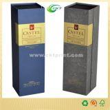 De Doos van de Verpakking van de Gift van de Fles van de wijn met het Stempelen van de Folie en maakt in reliëf (CKT- cb-789)