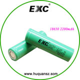 Li-íon Lithium Ion Battery Most Popular de Choice 18650 22f 2200mAh 3.7V da qualidade