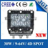 Van het LEIDENE van de vlek 30W Verlichting Voertuig CREE van het Werk de Lichte 4X4 5W