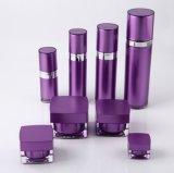 Bottiglia senz'aria della lozione del vaso crema acrilico viola di Set3 pp per l'imballaggio dell'estetica (PPC-CPS-038)